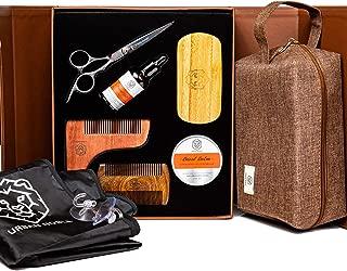 Beard Grooming Kit for Men Gift Set- Beard Oil Growth & Organic Balm For Man - Sandalwood Beard Comb