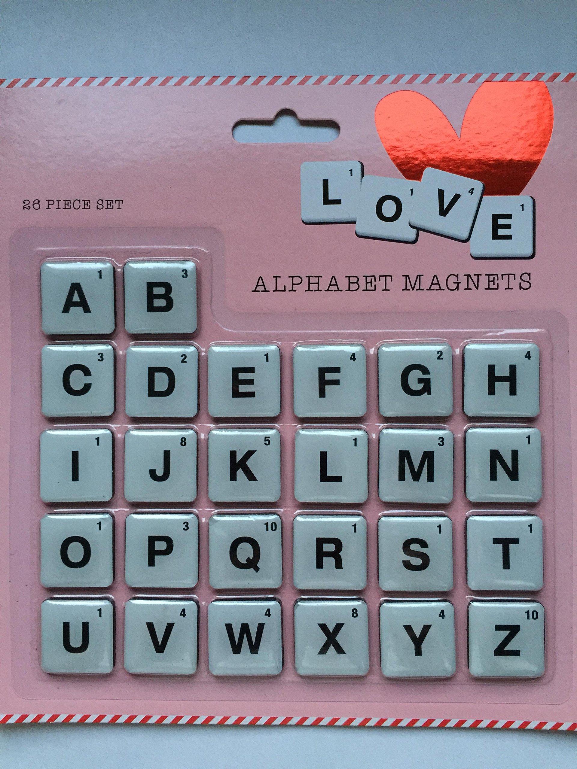 Alfabeto Scrabble Tile imanes de San Valentín Regalo divertido amor mensaje: Amazon.es: Hogar