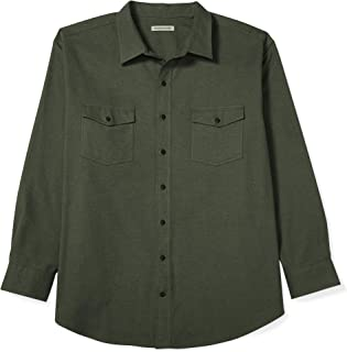 Men's Big & Tall Long-Sleeve Solid Flannel Shirt fit by DXL