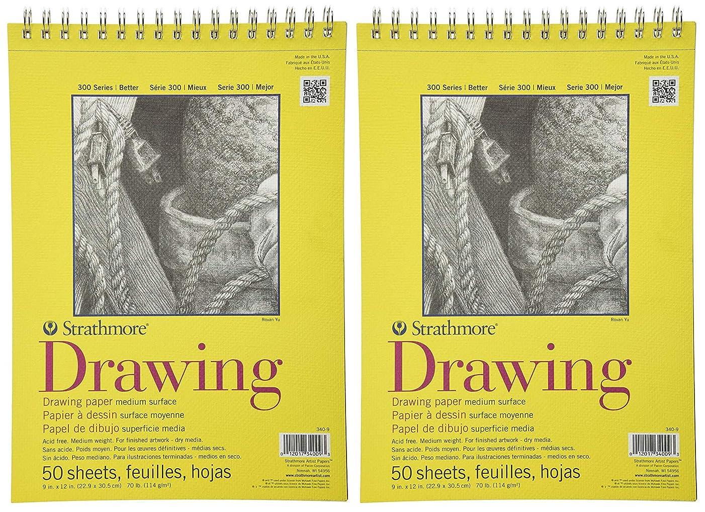 2-Pack - Strathmore 300 Series Drawing Pad, Medium Surface, 9