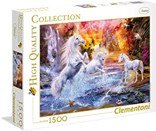 Clementoni Puzzle Hqc Wild Unicorn 1500 Pieces, Multicolor, 6800000191, 31805