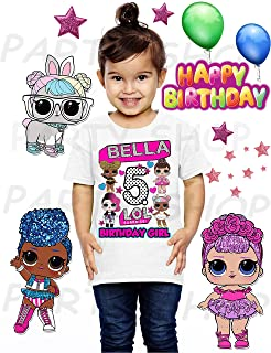 Lol Doll Shirt, Lol Birthday Party, Add Any Name and Age, Family Matching Shirts, Personalized Lol Shirt Family,Girls Birthday Shirt, 2