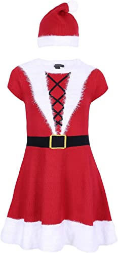 deportes calientes Atmosphere mujer Navidad mujer Disfraz Disfraz Disfraz Navidad Carnaval Vestido de Punto con Gorro Faux Piel  el mas reciente