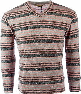 vmz fashion Mens Sweatshirt V Neck Striped Slim Fit Faded Lightweight Cotton Blend Four Color's (Sweatshirts for Men)
