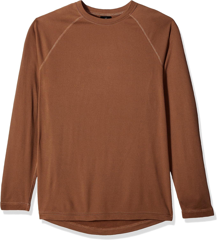 Terramar Men's Military Fleece Sleeve Crew Super sale period limited Long Long-awaited