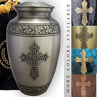 Love of Christ Silver Cremation Urns for Human Ashes Adult for Funeral, Burial, Niche or Columbarium Cremation, Urns for A...