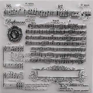 MaGuo Music Song Clear Stamps for DIY Scrapbooking and Card Making Decoration