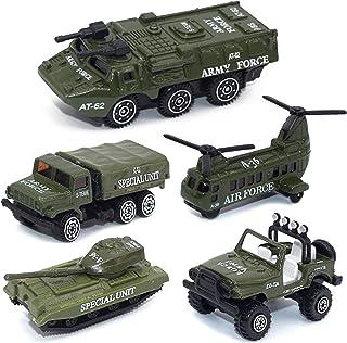 CORPER TOYS ミニカー 5台セット 戦車コレクション 自衛隊 軍事車両 戦闘車両 ヘリコプター 男の子 おもちゃ モデルカー 合金製