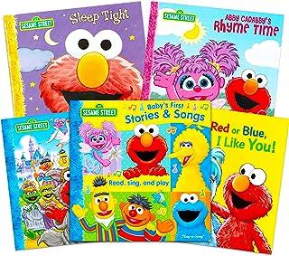 Sesame Street Book Bundle Elmo Read Play Sound Book Set - 4 Pack Sesame Street Board Books for Toddlers Boys Girls Elmo St...
