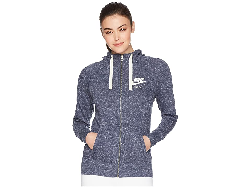 Nike Gym Vintage Full Zip Hoodie (Thunder Blue/Sail) Women