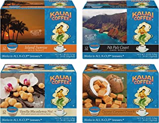 Kauai Coffee Single Serve Pods, 100% Premium Arabica Coffee from Hawaii's Largest Coffee Grower, Compatible with Keurig K-Cup Brewers, Variety Pack, 48 count.