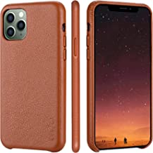 iPhone 11 pro Case Rejazz Anti-Scratch Iphone11 pro Cover Genuine Leather Apple iPhone Cases for iPhone 11 pro (5.8 Inch) (Brown)