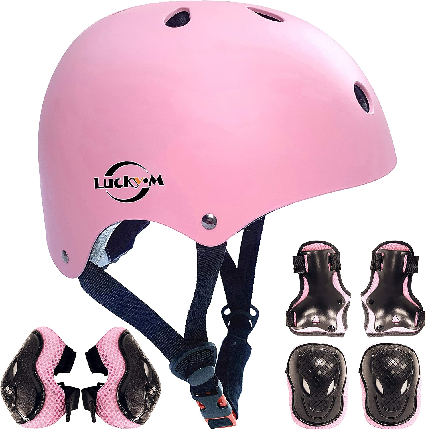 Kids Toddler Protective Gear and Helmet Sets Kids Helmet and Pads Set[Knee Pads,Wrist Pads and Elbow Pads] for Skateboarding, Skating, Scooter, Cycling : Sports & Outdoors