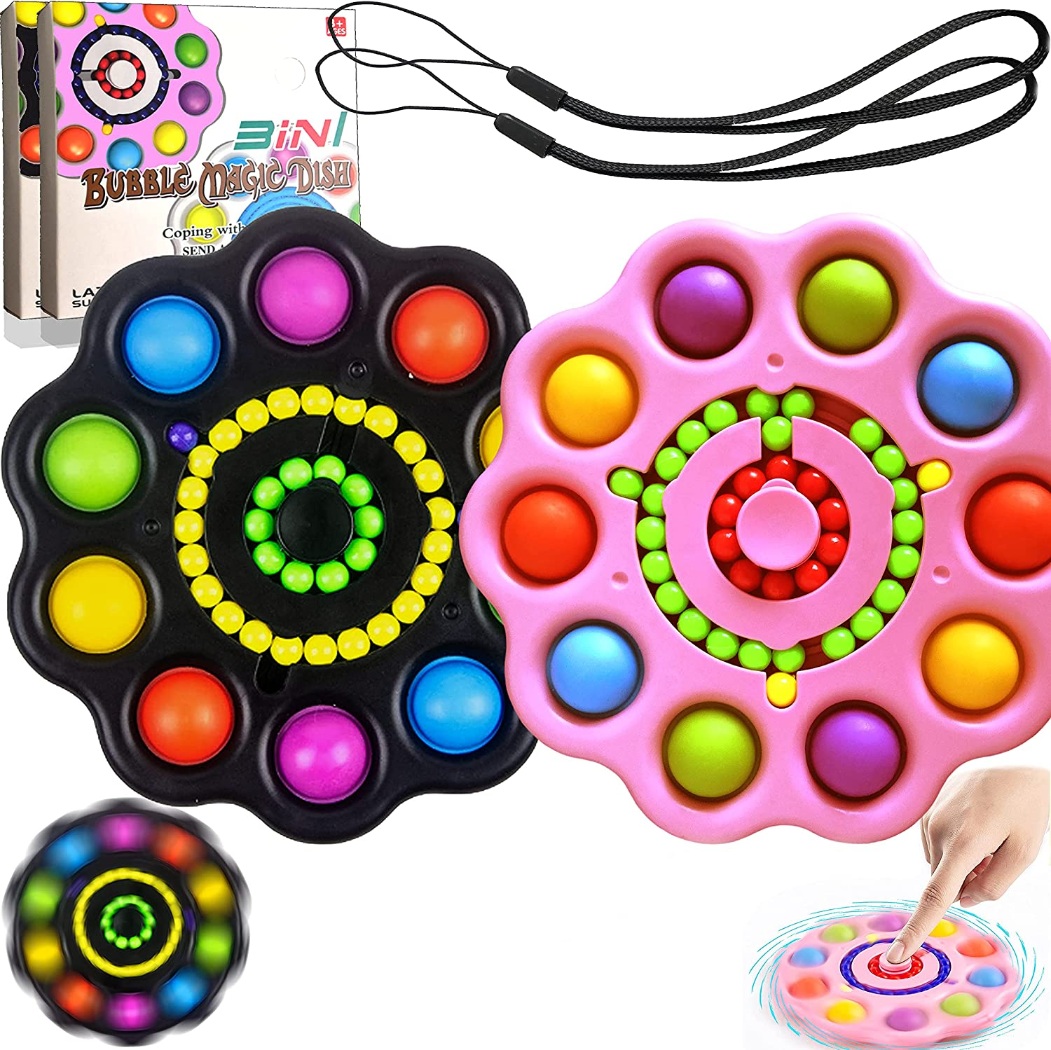 RQLDEMLM Flower Simple Courier shipping free Dimple Spasm price Fidget Bubble Toy Fidg Magic