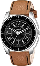 howdy Black Dial Brown Leather Strap Analogue Wrist Watch for Men & Boys C-580