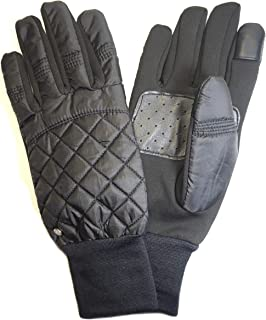 Lauren Ralph Lauren Womens Thinsulate Quilted Touch Gloves Black