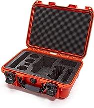 Nanuk DJI Drone Waterproof Hard Case with Custom Foam Insert for DJI Mavic 2 Pro/Zoom - Orange - Made in Canada