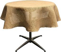 LA Linen TCBurlap58R Natural Burlap Tablecloth 56/58-Inch Round