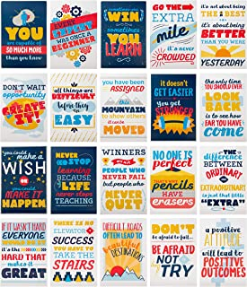 Juvale Motivational Posters - 20-Pack Inspirational Posters, Posters with Inspiring Quotes, Vibrant Design, Perfect for School, Classroom and Office Decoration, 13 x 19 Inches (Vibrant Design)