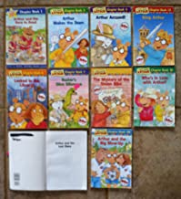 Set of 12 Arthur Chapter Books (The Race to Read ~ Makes the Team ~ Accused ~ Locked in the Library ~ Buster's Dino Dilemma ~ Mystery of the Stolen Bike ~ The Lost Diary ~ Who's in Love with Arthur? ~ King Arthur ~ Big Blow-Up ~ Popularity Test ~ Cootie-Catcher)