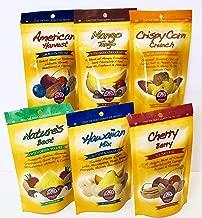 Germack Pistachio Company, Snack Nut Mix Favorites Variety Bundle, Cherry Berry, American Harvest, Mango Tango, Hawaiian Mix, Nature's Best, Crispy Corn Crunch - 6 Resealable Bags, 3.5 ounces each