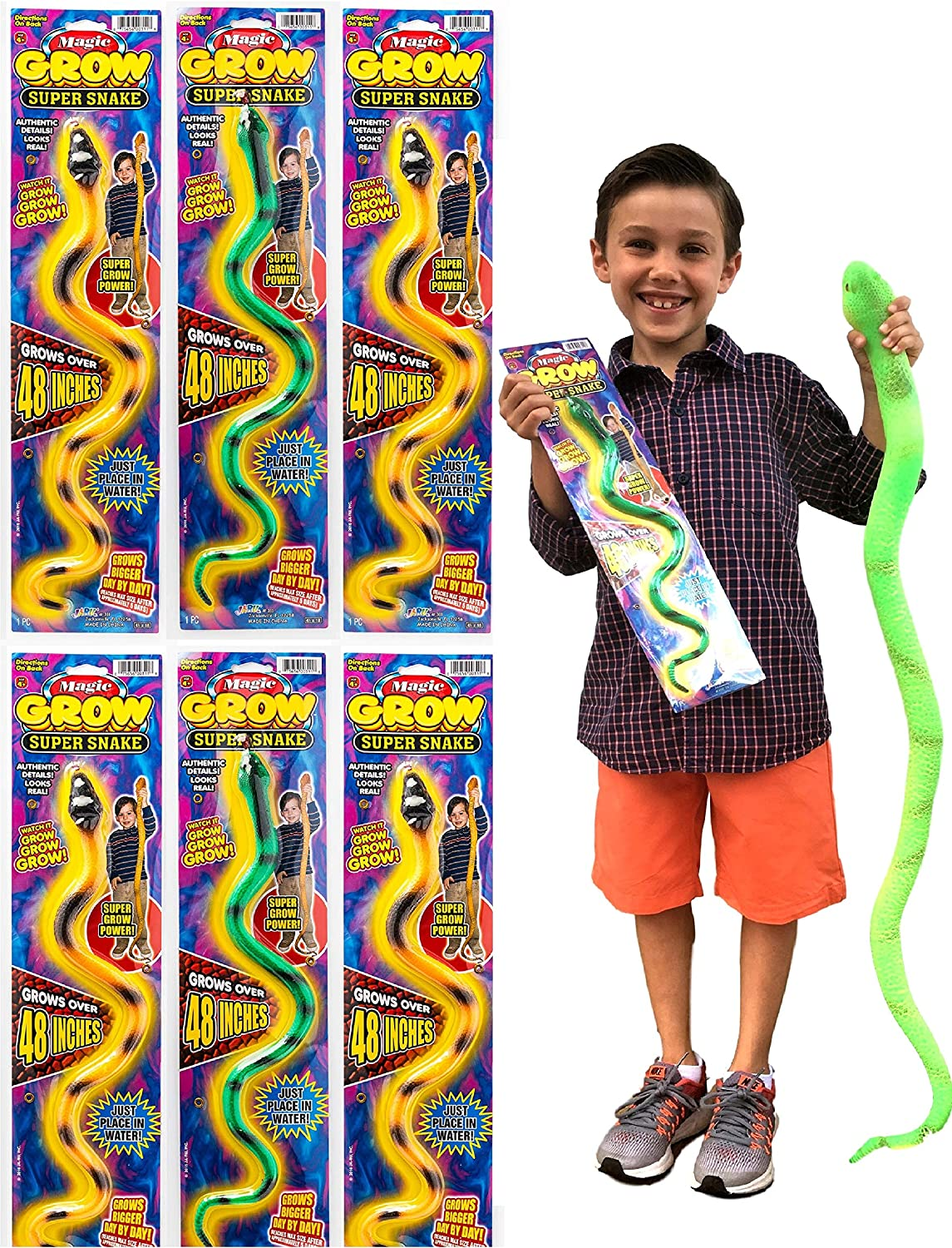 Fun Grow Snake Reptile Toy Creature Grows up to 600 in Water Age 3 for sale online