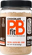 PBfit All-Natural Chocolate Peanut Butter Powder 15 Ounce, Chocolate and Peanut Butter Powder from Real Roasted Pressed Peanuts and Cocoa, Low in Fat High in Protein, Natural Ingredients