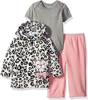 Bon Bebe Baby Girls' 3 Piece Microfleece Jacket Set
