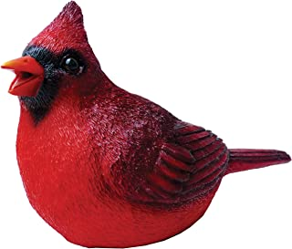 Chirper Cardinal Statue by Michael Carr Designs - Outdoor Bird Figurine for Gardens, patios and lawns (80035)