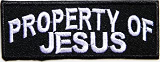 PROPERTY OF JESUS Christian Cross Funny Motorcycle Outlaw Hog MC Biker Rider Hippie Punk Rock Jacket T-shirt Patch Sew Iron on Embroidered Sign Badge