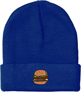Sponsored Ad - owndis Embroidered Hamburger Beanie for Men and Women