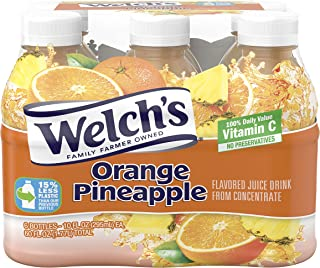 Welch's Juice Drink, Orange Pineapple, 10 Ounce On the Go Bottles (Pack of 24)