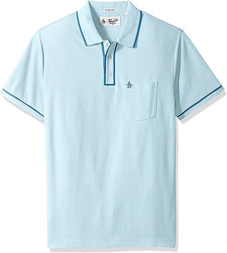 Original Penguin Hommes's The Ear Polo Shirt, Crystal bleu, grand