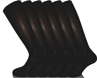 7 Paia: 6 + 1 Fantasia Omaggio Calzini Made in Italy 100/% Cotone Fresco Resistenti Eleganti Rimagliati Sotto il Ginocchio RV97 Calze da Uomo Lunghe Filo di Scozia