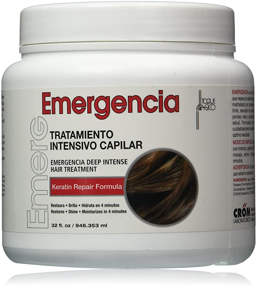 便宜シーン可能TOQUE MAGICO Emergencia ユニセックスのためにディープインテンシブヘアトリートメント、32オンス
