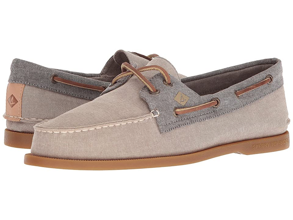 Sperry A/O 2-Eye Chambray (Chino/Chocolate) Men