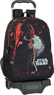 Mochila Escolar con Carro de Star Wars The Dark Side, 330x150x430mm, negro/naranja, M (M313)