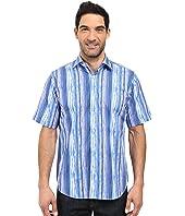 BUGATCHI - Watercolor Classic Fit Short Sleeve Woven Shirt