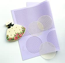 Grid silicone mat for cookie decorating.