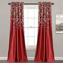 Lush Decor Weeping Flowers Curtains Room Darkening Window Panel Set (Pair), 84