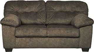 Ashley Furniture Signature Design - Accrington Contemporary Upholstered Loveseat - Earth Brown