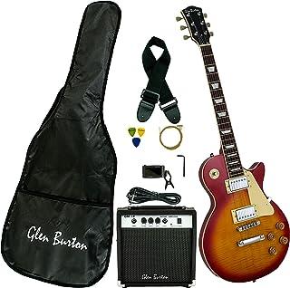 Glen Burton GE320BCO-CBS Classic LP-Style Electric Guitar, Cherry Burst