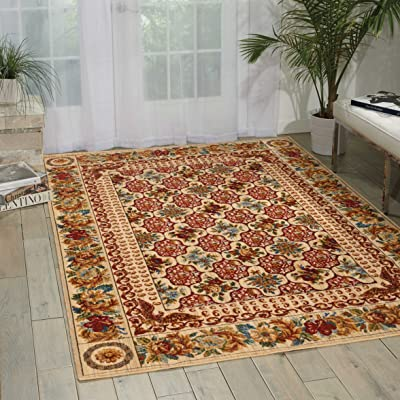 Nourison Timeless (TML13) Multicolor Rectangle Area Rug, 12-Feet by 15-Feet  (12' x 15')