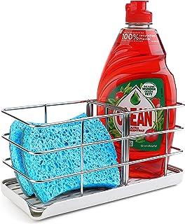 Damita Kitchen Sponge Holder, Stainless Steel Sponge Holder for Kitchen Sink, Soap Organizer Sink Caddy, Kitchen Sink Coun...