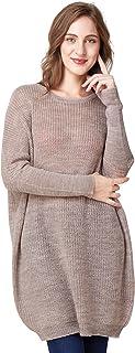 Nico Louise Women Sweater Batwing Sleeve Oversize Pullovers Loose fit Wool Knitwear