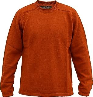 Alpaca Basics Men's Handmade 100% Alpaca Wool Roll Neck Sweater