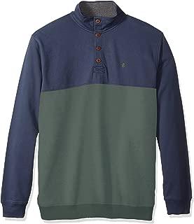Men's Big and Tall Saltwater Colorblock Button Mock Shirt