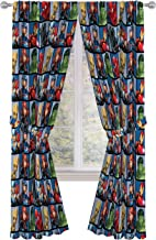 "Jay Franco Marvel Avengers Team 84"" inch Drapes 4 Piece Set - Beautiful Room Décor & Easy Set up - Window Curtains Include..."