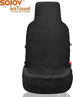 Sojoy Four Seasons Car Seat Cover - Microfiber Seat Protector with Quick-Dry, No-Slip Technology. Car Seat Protection from All Workouts, All-Weather (Black)