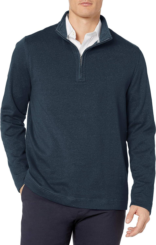 Geoffrey Beene shop Men's Long Sleeve Stretch Twill Houston Mall Zip 1 Pullover 4